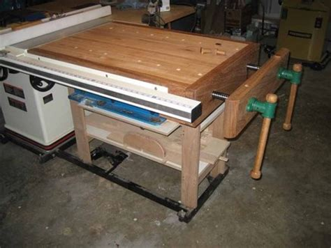 table saw work bench table saw work bench by cutnrun lumberjocks com woodworking community