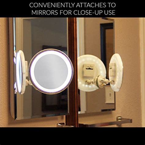 light up travel mirror 7x magnifying lighted makeup mirror warm led tap light