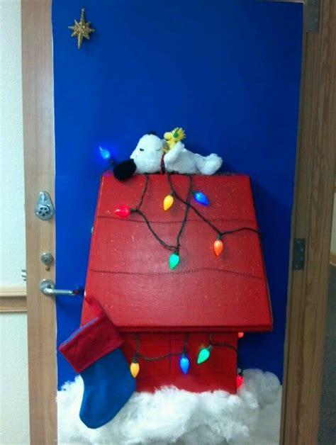 christmas door decorations for work snoopy s my door for decorated door contest at