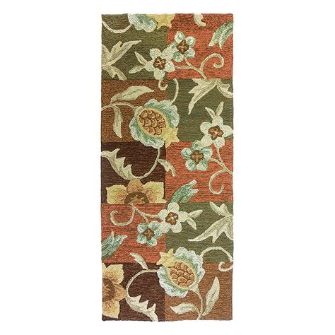 Pineapple Outdoor Rug Tropical Pineapple And Flowers Indoor Outdoor Rug 26 In X 60 In Runner Homefires Dfohome