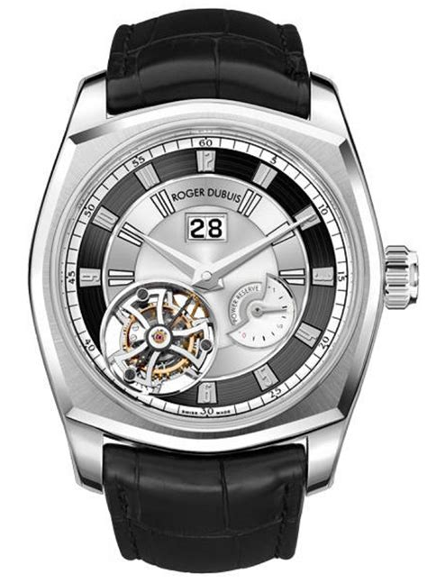 Roger Dubuis 2953 Silver White Black Leather Automatic rddbmg0006 roger dubuis la monagasque essential watches