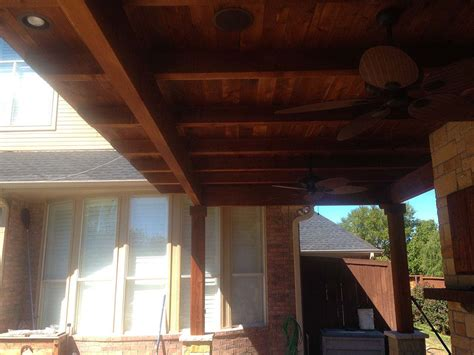 Large Patio Cover by Large Custom Patio Cover With Fans And Kitchen In Mckinney