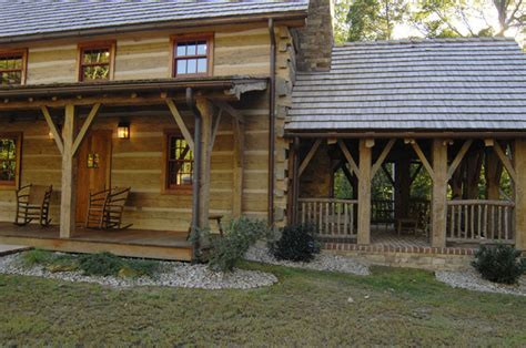 Kentucky Log Cabins by Central Kentucky Log Cabin Primitive Kitchen Traditional