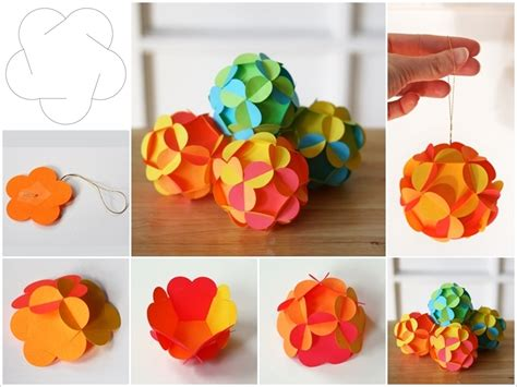 How To Make Flower Paper Balls - how to make this 3d paper looks but it s not