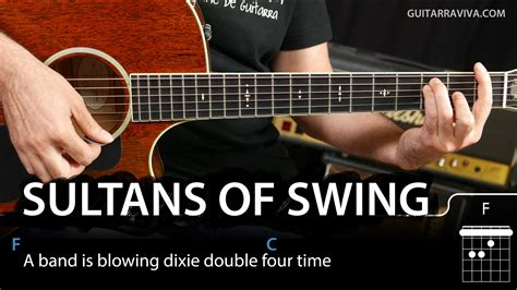 guitar swing how to play sultans of swing on guitar tutorial easy