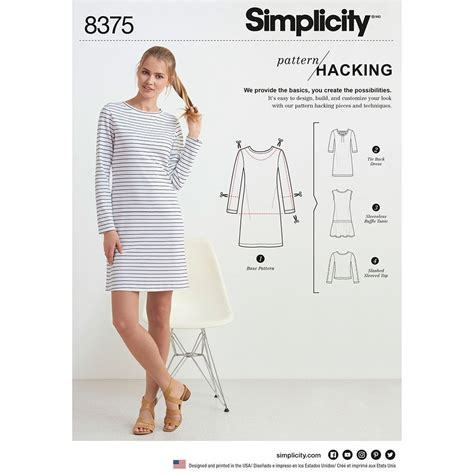 sewing pattern hacks womens knit dress or top for design hacking simplicity