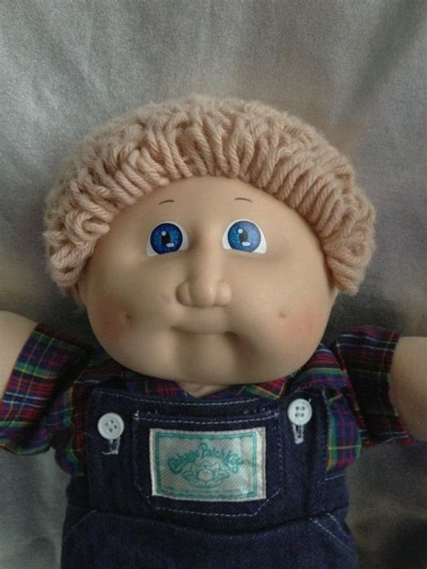 cabbage patch dolls names vintage cabbage patch kid boy ash blond blue eyes by