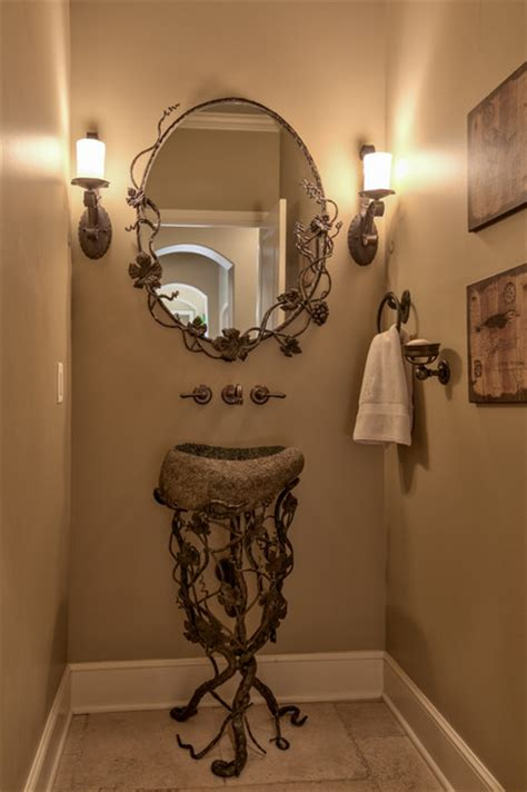 french country legacy mediterranean powder room metro inspired interiors