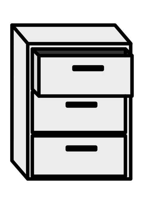 Cabinet Page by Coloring Page Filing Cabinet Img 27139