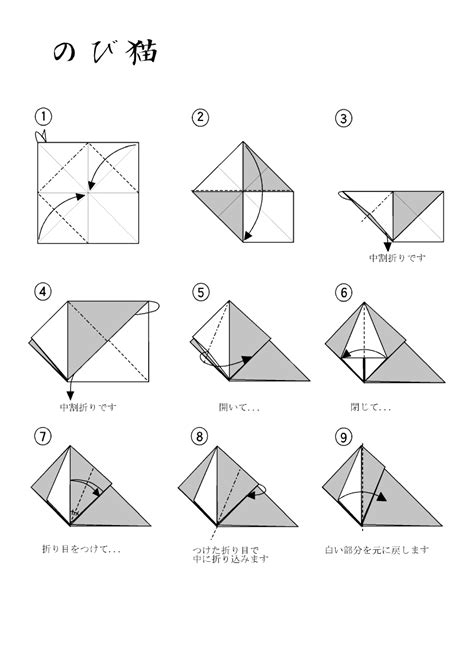 Origami Cat Diagrams - neko origami images craft decoration ideas
