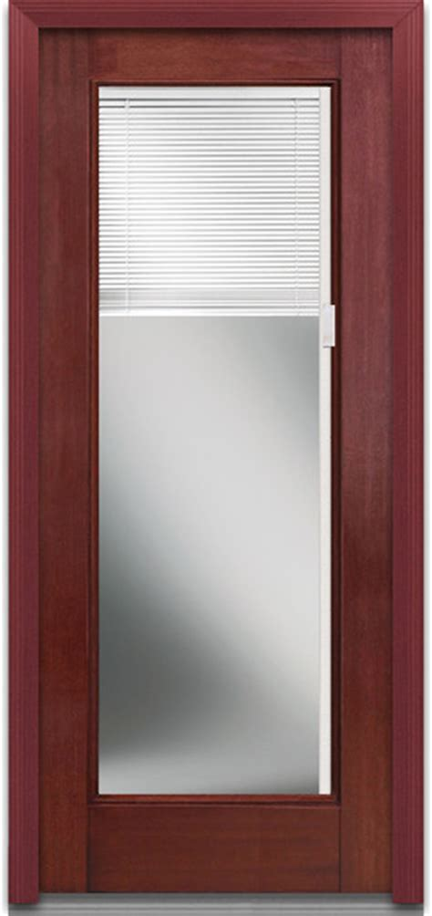 Blinds For Front Doors Mini Blinds Lite Fiberglass Mahogany Front Door Craftsman Front Doors By Verona Home