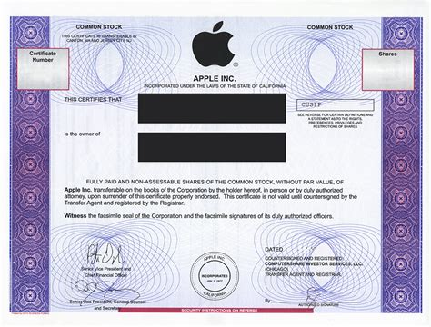 certificate templates for mac apple inc and