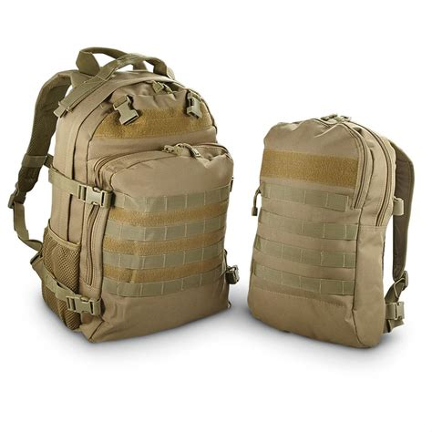 tactical back packs fox tactical dual tactical pack system 302488 tactical backpacks bags at sportsman s guide