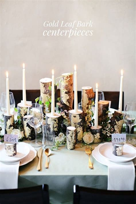 DIY Gold Leaf Branch Centerpiece   DIY Wedding Decorations
