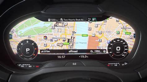 Audi Virtual Cockpit by Audi A3 Virtual Cockpit Youtube