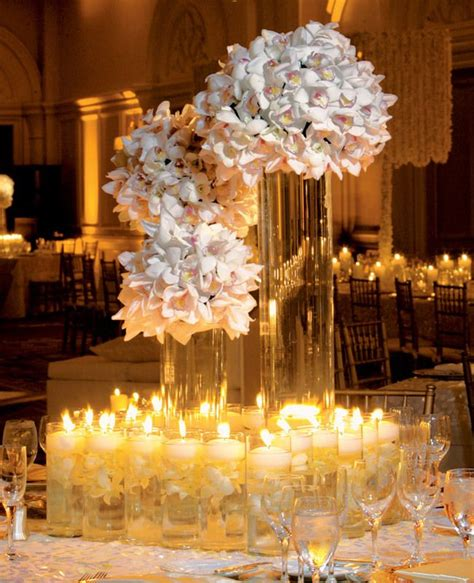 6 Statement Orchid Centerpieces Receptions Flower And White Orchid Centerpieces