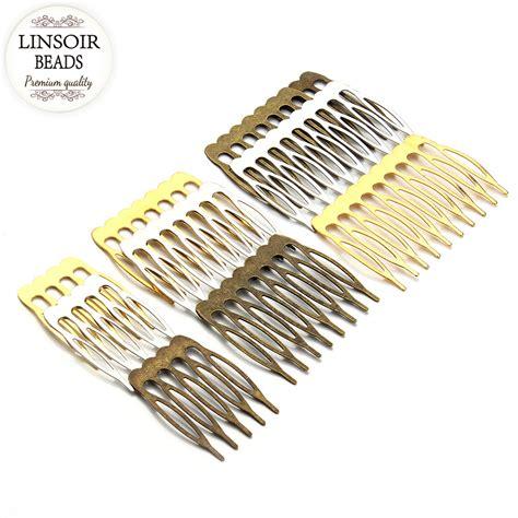 Comb Hair Clip 10pcs lot 5 8 10teeth metal hair comb hair claw