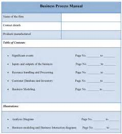 manual template for business process format of business
