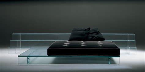 glass bed glass bed and sofa by santambrogio milano contemporist