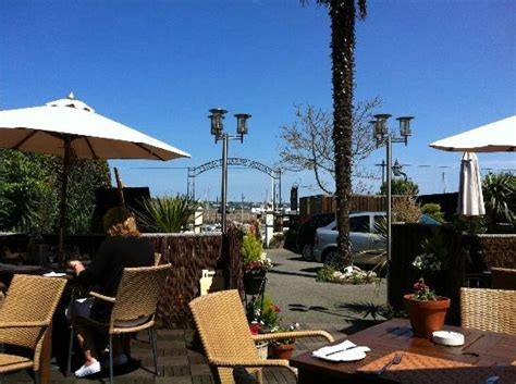 top dog bar nj view towards harbour from canopied area