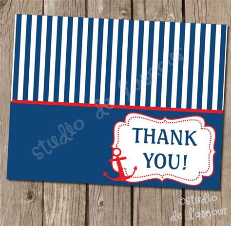 free printable nautical thank you cards 6 best images of printable nautical thank you free