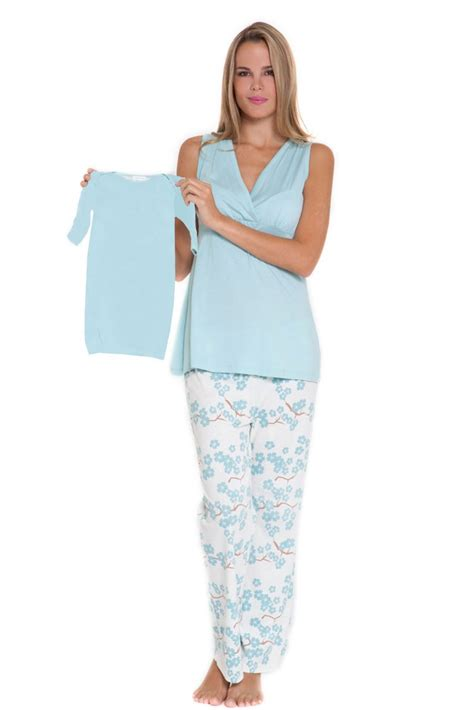 New Look Gift Card Ireland - olian mackenna 4 pc nursing pj set with baby outfit and gift box in blue floral