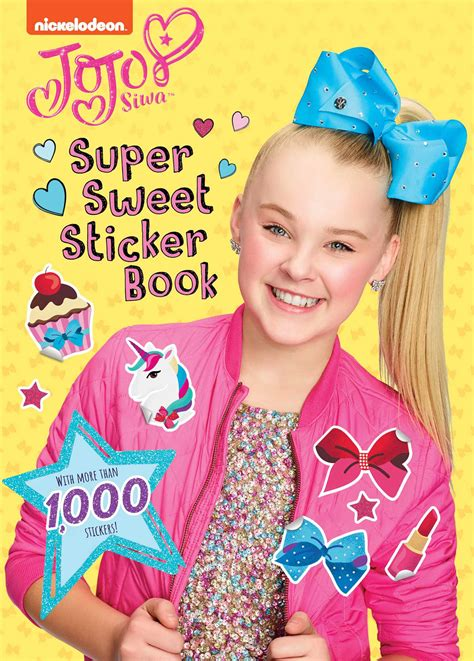 be you activity book jojo siwa books sweet sticker book book by sizzle press official