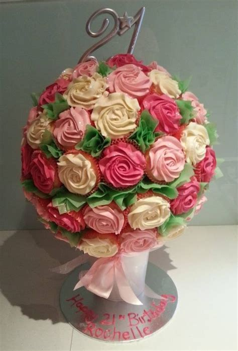 Cupcake Bouquet 21st birthday cupcake bouquet cake cup cake land and how