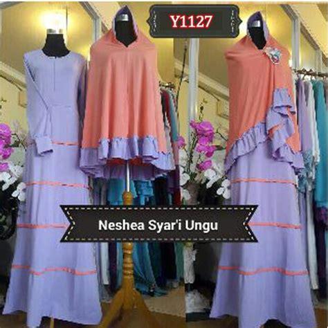 Model Gamis Terbaru 2015 Set Bergo Gucci Polos By Nasya Naila gamis bergo neshea y1127 baju muslim simpel cantik