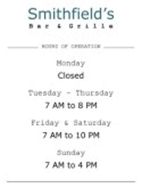 Restaurant Hours Sign Thanksgiving Business Hours Template