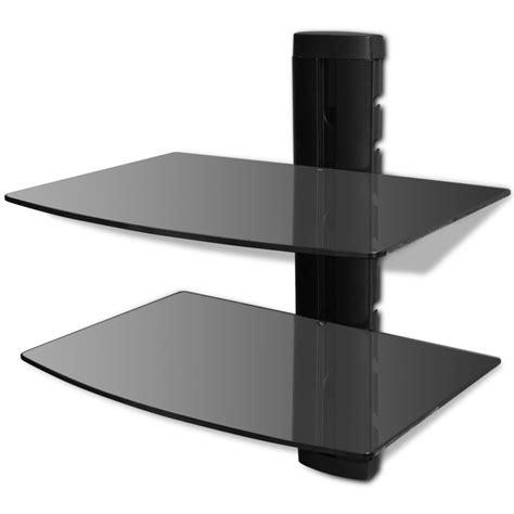 supporto per mensole articoli per supporto con 2 mensole di vetro montaggio a