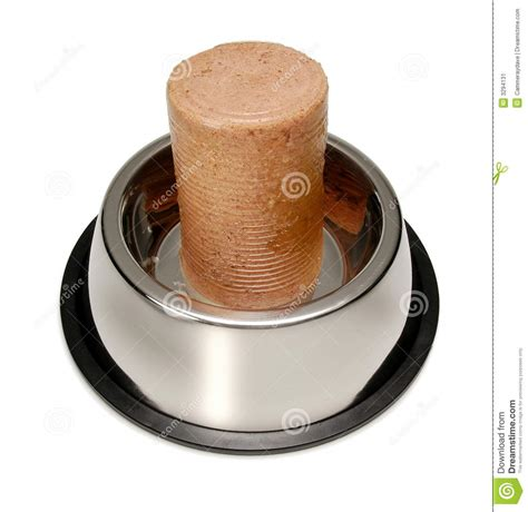 canned puppy food canned food bowl stock image image 3294131