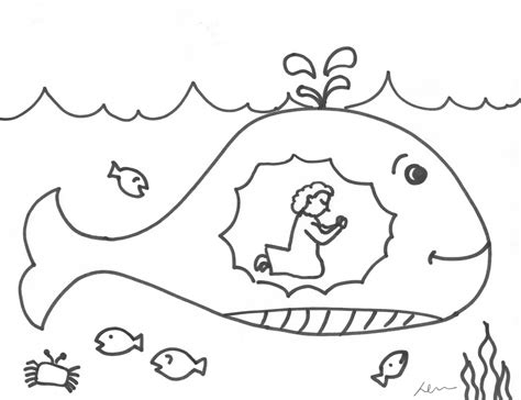 The Runaway Prophet Jonah Crossmap Christian Kids Jonah And The Big Fish Coloring Page