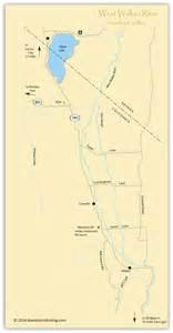 west walker river eastern fishing maps