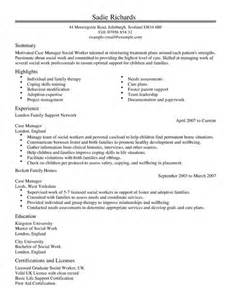 case manager cv example for social services livecareer
