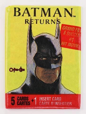 vintage  dc comics batman returns trading cards wax