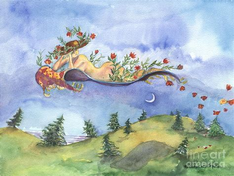 upon a bed of roses painting by cori caputo
