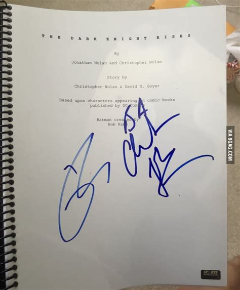My 23rd Birthday Gift Is The Original Script Of The Dark Knight Rises | my 23rd birthday gift is the original script of the dark