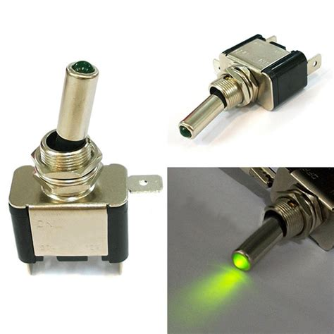 green light auto group on off switch green light led l dc 12v toggle switch