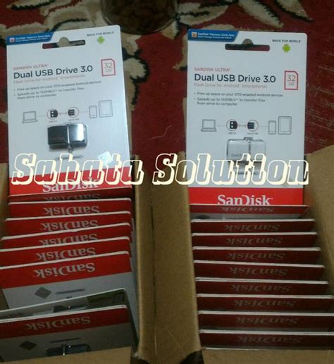 Sandisk Flashdisk Otg 32gb Usb 3 32 Gb Flasdisk Original jual flashdisk otg usb 3 0 sandisk ultra dual 32gb