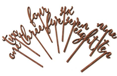 Wedding Cake Toppers Australia by Wedding Table Numbers Cake Topper Wooden Acrylic Australia