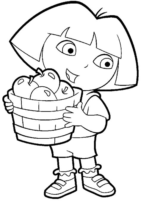 21 dora coloring pages free printable word pdf png