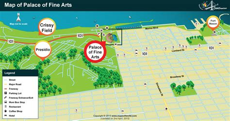 san francisco food map map of the palace of arts san francisco