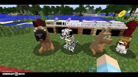 mods in minecraft dogs minecraft mod realistic dog mod youtube