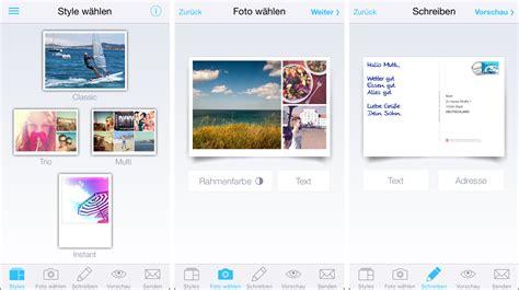 Postkarten Frankiert Drucken by Beste Postkarten App 2014 Und 2015