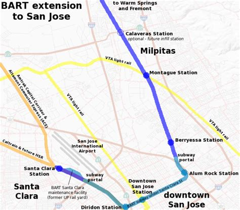 san francisco map showing bart stations bay area transportation page 15 skyscrapercity