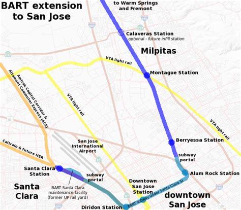 bart san jose extension map the san jose wednesday wishlist bart to san jose