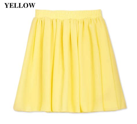 new retro high waist chiffon skirt