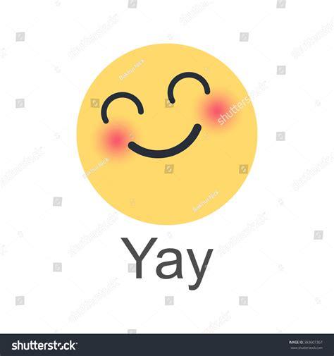 emoji yay yay new like button empathetic emoji stock illustration