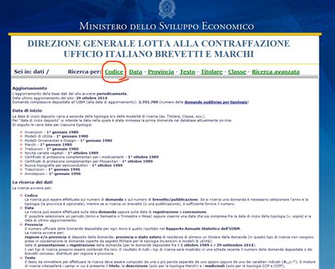 numero registrazione di commercio elenco dei marchi nazionali d impresa